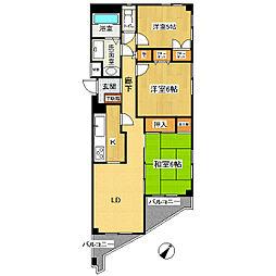 クレストコート東戸塚II[4階]の間取り