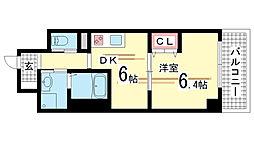 兵庫県神戸市須磨区行幸町1丁目の賃貸マンションの間取り