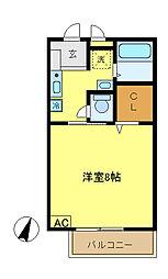 コンフォート戸塚[2階]の間取り