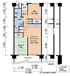 Osaka Metro南港ポートタウン線 ポートタウン西駅 徒歩3分の賃貸マンション 2階2LDKの間取り