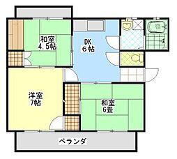 メゾンコダマII[2階]の間取り