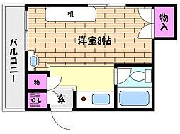兵庫県神戸市灘区篠原中町5丁目の賃貸マンションの間取り