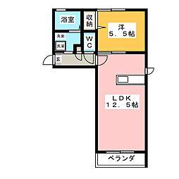 シャーメゾン ブローディア[1階]の間取り