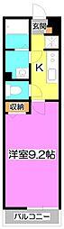埼玉県富士見市東みずほ台2丁目の賃貸アパートの間取り