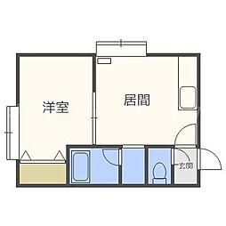 ファミリーマンション24[3階]の間取り