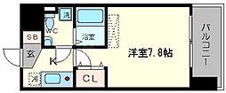 アフルエンス難波[3階]の間取り