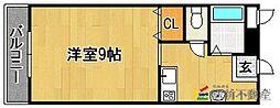 ピュアハウス[406号室]の間取り