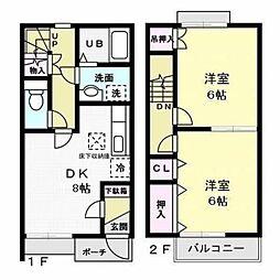 DUPLEX細井 B[102号室]の間取り