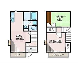 [テラスハウス] 神奈川県相模原市中央区淵野辺本町2丁目 の賃貸【/】の間取り