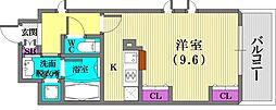 KAISEI新神戸第二WEST[2階]の間取り