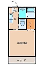 ファーネスト春口[3階]の間取り