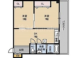 マンション樅[4階]の間取り