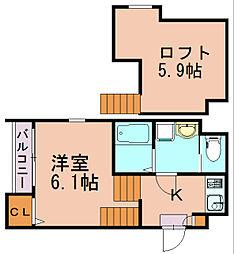 クラウド9-II[2階]の間取り