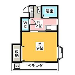 ケイエムII[1階]の間取り