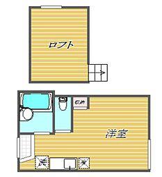 東京都品川区豊町6丁目の賃貸アパートの間取り