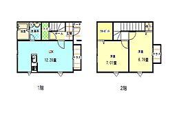 テポーレ岩田III 12階2LDKの間取り
