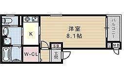 大阪府大阪市福島区吉野4丁目の賃貸アパートの間取り