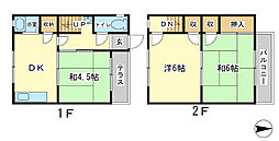 [テラスハウス] 兵庫県姫路市辻井1丁目 の賃貸【兵庫県 / 姫路市】の間取り