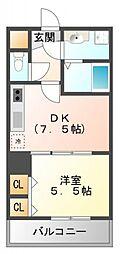シーナリ江坂[6階]の間取り