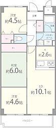 南山寿ガーデン[406号室]の間取り