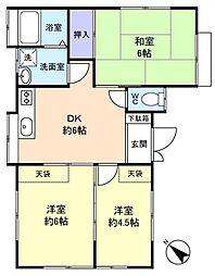 松が丘2−30−4アパート[1階]の間取り