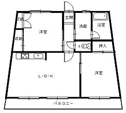 東栄第二ビル[3階]の間取り