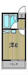 エステート西川口II[203号室]の間取り