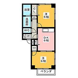 エスポア21 A棟[2階]の間取り