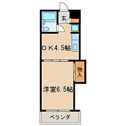 高岳レジデンス[3階]の間取り