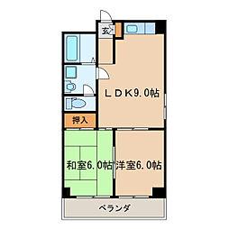 イイダマチハウス[4階]の間取り