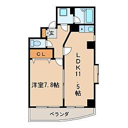 ラフィナス新栄[3階]の間取り
