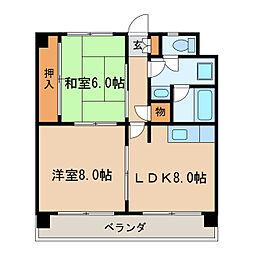 メゾンモリヤス[4階]の間取り