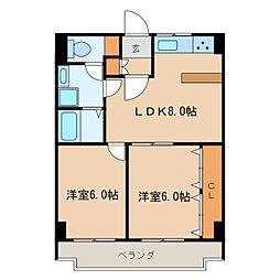 ガーデンコート新栄[4階]の間取り