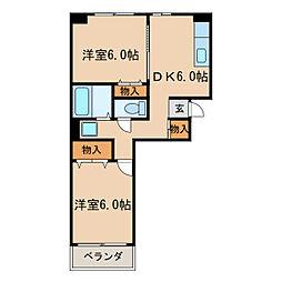 向陽ビル[4階]の間取り