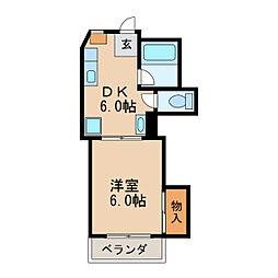 コーポグリーンハウス[2階]の間取り