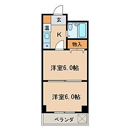 桜マンション[7階]の間取り