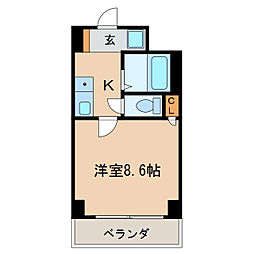 マザック新栄[5階]の間取り
