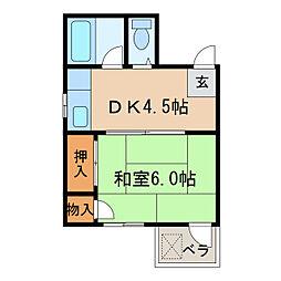 西三宝ビル[5階]の間取り