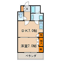 久屋グリーンビル[6階]の間取り