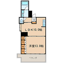 ラディアント ヤバ[5階]の間取り