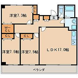 チサンマンション丸の内第6[11階]の間取り