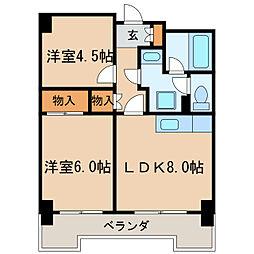 第13オ−シャンビル[9階]の間取り