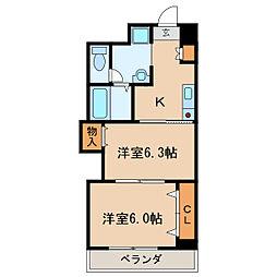 プレステージ名古屋[3階]の間取り