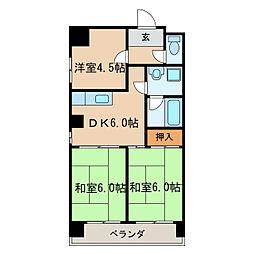 愛協ビル[5階]の間取り