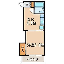 菱家ビル[9階]の間取り
