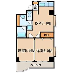 アゴラ葵[6階]の間取り