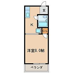 シャトー鶴舞[8階]の間取り