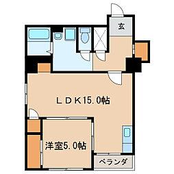 主税ビル[8階]の間取り
