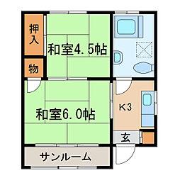 奥村ビル[2階]の間取り
