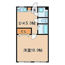 妙本寺ビル[4階]の間取り